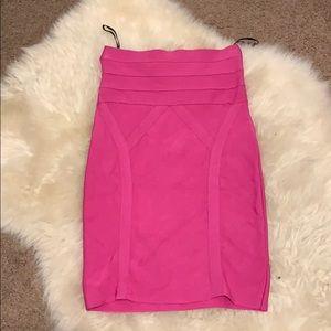 Hot pink Bebe bandage skirt